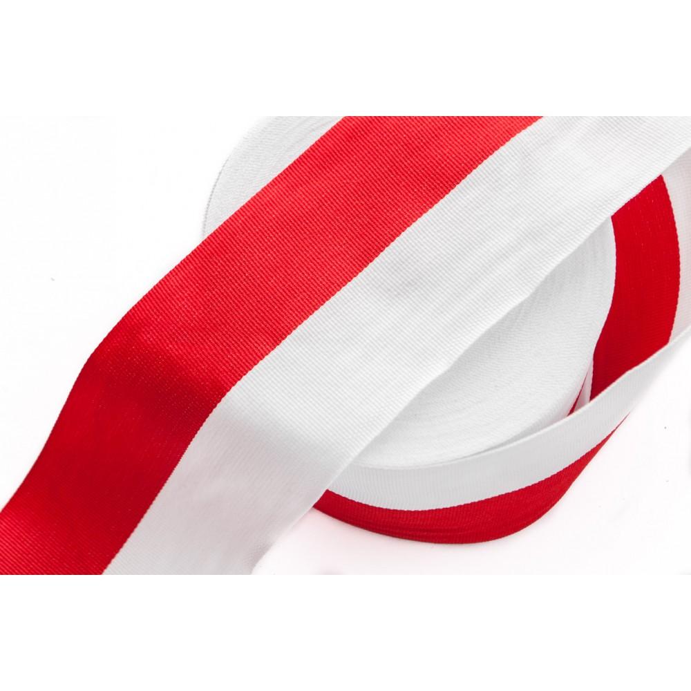 Cudowna Taśma Rypsowa Biało-Czerwona WPL-75mm KK97
