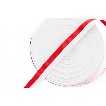 Wstążka Rypsowa Biało-Czerwona WPL-15mm