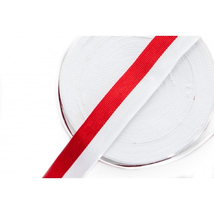Taśma Rypsowa Biało-Czerwona WPL-25mm