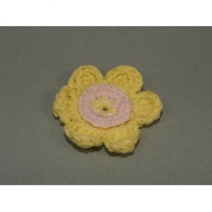 Bawełniany kwiatek z kordonka ks-09