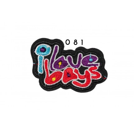 Łatka termo przylepna i love boys 061 APL-104