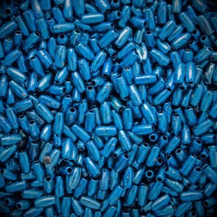 Koraliki plastikowe ryż niebieski KOR/G-3x6
