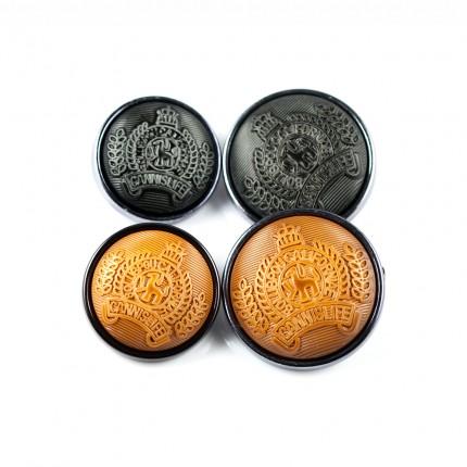 Guziki herbowe z tworzywa szare gz-028 wzór 2 25szt. 25mm