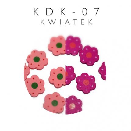 Koraliki drewniane kwiatki KDK-07