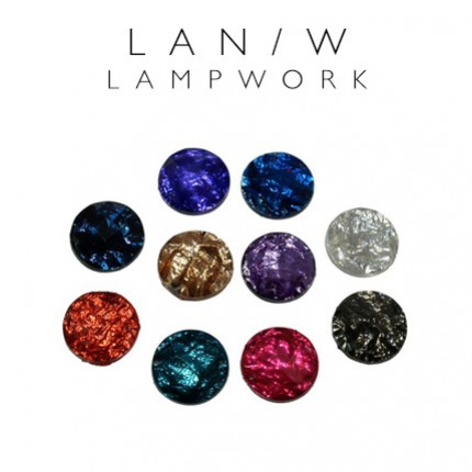 Kamienie akrylowe do naszywania lampwork 16mm kółko LAN/W 16mm