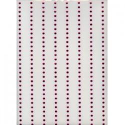 Blaszki kółka na arkuszach różowe 5mm hfk-05mm/k