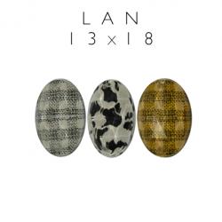 Kamienie akrylowe do naszywania owal LAN 13x18mm