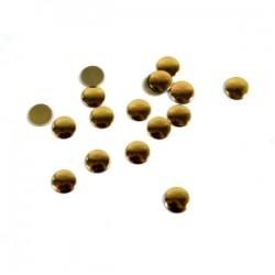 Blaszki termoprzylepne kółka złoto miedziane 6mm hfm-02/g