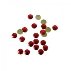 Blaszki termoprzylepne kółka czerwone 6mm hfm-02/g