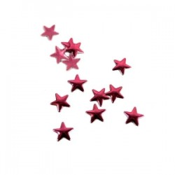 Blaszki termoprzylepne gwiazdki różowe 8mm hfm-02/g
