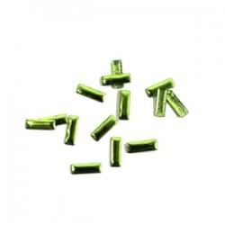 Blaszki termoprzylepne prostokąty zielone 3mm x 10mm hfm-02/g