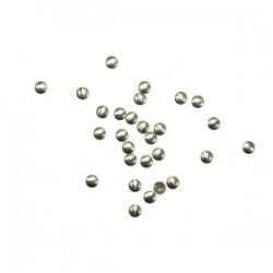 Blaszki termoprzylepne kółka stare srebro 4mm hfm-01/g