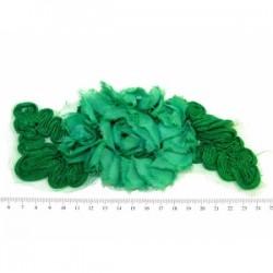 Aplikacja 3d kwiat na tiulu zielona apl-358