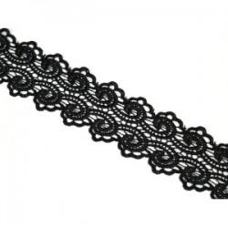 Taśma gipiurowa ozdobna czarna tk-110