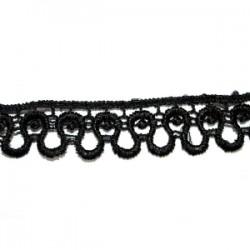 Taśma gipiurowa ozdobna czarna tk-120