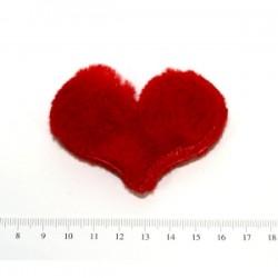 Aplikacja futrzane serduszko czerwone ld-016 wzór 11
