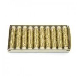 Nici metalizowane tileko złote 10szt.
