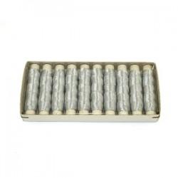 Nici metalizowane tileko srebrne 10szt.
