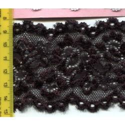 Koronka elastyczna czarna 2372
