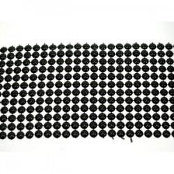 Półperły na siatce czarne td-103 wzór 3