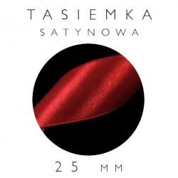 Tasiemka Satynowa 25mm Jednostronna