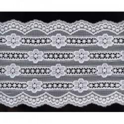 Koronka elastyczna biała 12cm wzór S3120