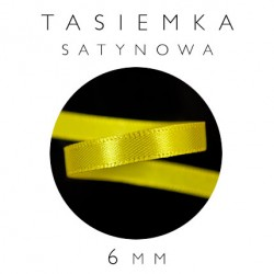 Tasiemka Satynowa 6mm Jednostronna