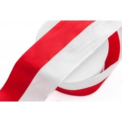 Taśma Rypsowa Biało-Czerwona WPL-75mm