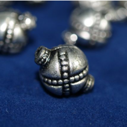 Koraliki plastikowe srebrne kulki 15mm zb-933