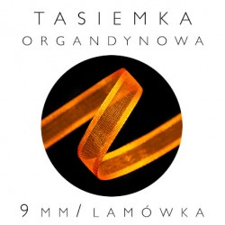 Wstążka organtynowa 9mm z lamówką satynową WO-09/L