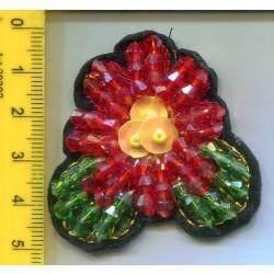 Aplikacja kwiat z koralików APL-436 15 szt.