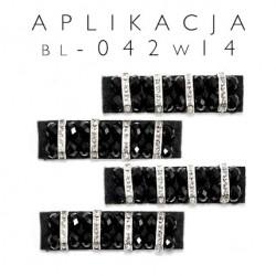 Aplikacja ozdobna czarna bl-018 wzór 14