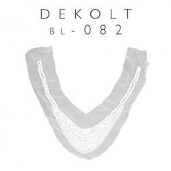 Aplikacja ozdobna dekolt z perełkami bl-082