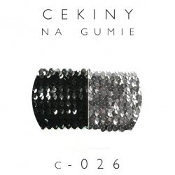 Cekiny na gumie szerokość 7cm C-026