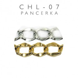 Łańcuch ozdobny pancerka z metra złoty CHL-07