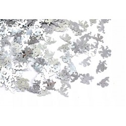 Cekiny luzem aniołki srebrne CLK-03