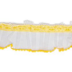 Falbanka organtynowa biała/żółty TC-233