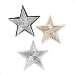 Aplikacja termo przylepna gwiazdki haft APL-195