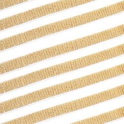 Guma tkana brokatowa biało-złota 10mm 25m.