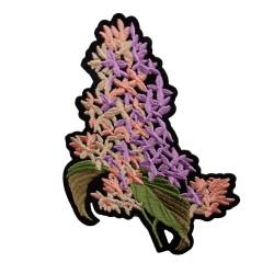 Aplikacja haft  kwiaty bzu APL-366 15szt.