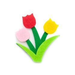 Naszywka kwiaty LD-071 20 szt.