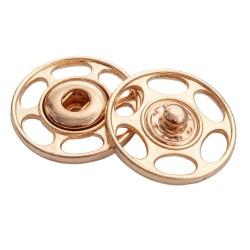 Zatrzaski metal 40L okrągłe złote 50szt.