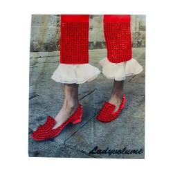 Naklejka odzieżowa APL-478 czerwony