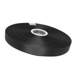 Taśma rypsowa 20mm czarna 0039#
