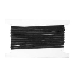 Aksamitka elastyczna guma czarna 6mm 25m.