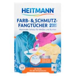 Chusteczki wyłapujące kolor i brud heitmann 20szt.
