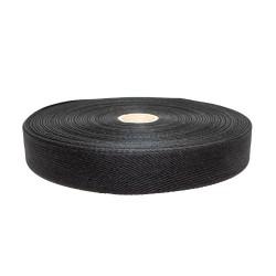 Taśma bawełniana 25mm czarna 50mb.