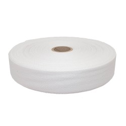 Taśma bawełniana 30mm biała 50mb.
