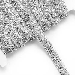 Taśma termo z kryształami  TD-203-srebrny