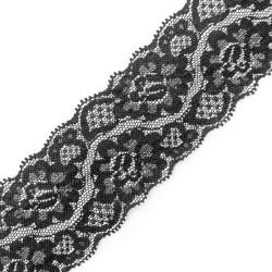 Koronka elastyczna czarna 3096A czarna